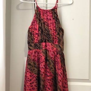 Pink and Brown leopard print dress